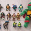 Figuras y Muñecos Tortugas Ninja: LOTE FIGURA MUÑECO TORTUGAS NINJA A CUERDA LENGUA VIR PLAYMATES TOYS MIRAGE STUDIOS TORTUGA . Lote 151759246