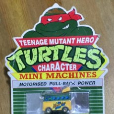 Figuras y Muñecos Tortugas Ninja: TURTLES MINI MACHINES MOTORISED PULL BACK POWER. Lote 154858598