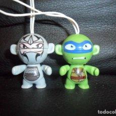 Figuras y Muñecos Tortugas Ninja: LEONARDO Y DESPEDAZADOR - TORTUGAS NINJAS - TNMT - 2012 KINDER - . Lote 161979342