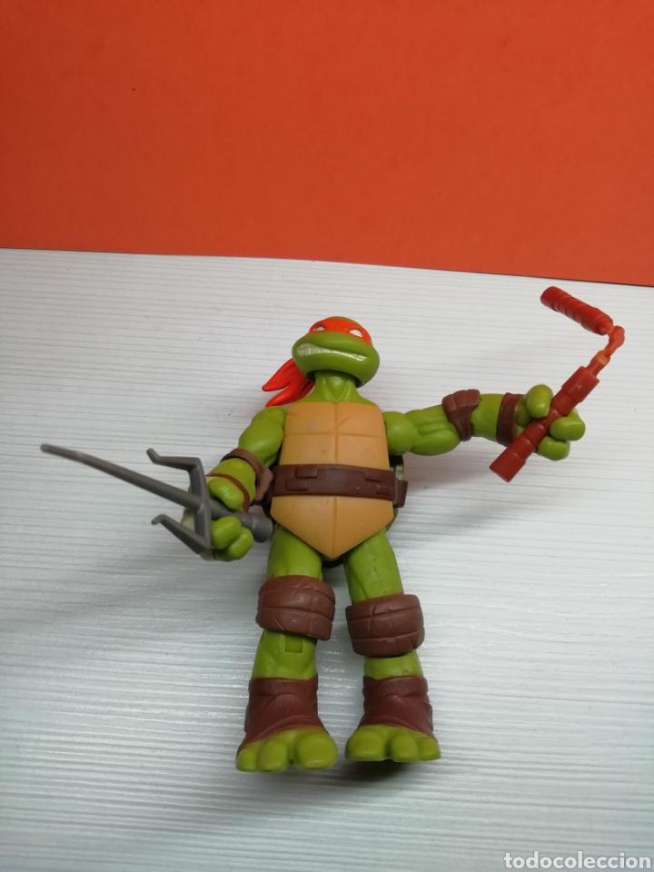 Figuras y Muñecos Tortugas Ninja: Figura Tortuga Ninja Articulada 12 cm Viacom 2012( Michelangelo) - Foto 3 - 162752092