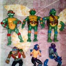 Figuras y Muñecos Tortugas Ninja: LOTE DE 6 FIGURAS DE LAS TORTUGAS NINJA-NINJA TURTLES, CON DEFECTOS, PARA PIEZAS O REPARAR. Lote 162812222