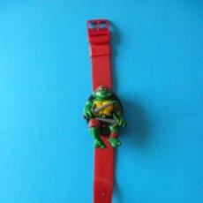 Figuras y Muñecos Tortugas Ninja: RELOJ TORTUGA NINJA RAPHAEL - RAFFAELLO - 1989 MIRAGES STUDIOS - TEENAGE MUTANT NINJA TURTLES. Lote 163771058