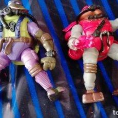 Figuras y Muñecos Tortugas Ninja: LOTE DOS TORTUGAS NINJA 2004 MIRAGE ESTUDIOS PLAYMATE. Lote 171590922