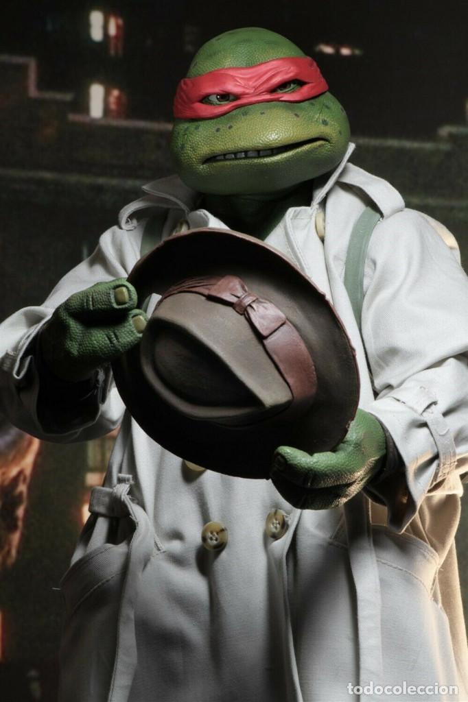 Figuras y Muñecos Tortugas Ninja: NECA FIGURA Raphael CON Disfraz Teenage Mutant Ninja Turtles escala 18 - 2018 ORIGINAL NUEVA 40.CM - Foto 12 - 171633383