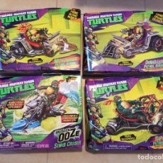 Figuras y Muñecos Tortugas Ninja: LOTE 4 VEHÍCULOS - TORTUGAS NINJA - PLAYMATES - TMNT - TEENAGE MUTANT NINJA TURTLES - NUEVOS. Lote 142722740