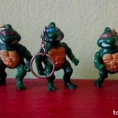 Figuras y Muñecos Tortugas Ninja: LOTE TORTUGAS NINJA LLAVERO BOOTLEG AÑOS 80 TMNT FIGURAS PLAYMATES. Lote 172750040