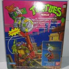 Figure e Bambolotti Tortugas Ninja: VEHÍCULO, DON'S TELEPHONE LINE RIDER BACK PACK, TORTUGAS NINJA TMNT PLAYMATES BANDAI 1988, NUEVO. Lote 172797139