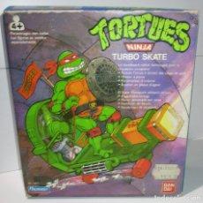 Figuras y Muñecos Tortugas Ninja: VEHÍCULO, TURBO SKATE, CHEAPSKATE, TORTUGAS NINJA TMNT PLAYMATES BANDAI 1988, NUEVO. Lote 172797350