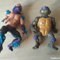 Figuras y Muñecos Tortugas Ninja: LOTE FIGURAS TORTUGAS NINJA AÑOS 80 VINTAGE. Lote 174019544