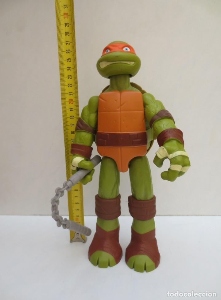 Figuras y Muñecos Tortugas Ninja: TORTUGAS NINJA - MICHELANGELO - DE 27 cm DE ALTO - VIACOM 2016, - Foto 2 - 174986922