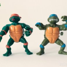 Figuras y Muñecos Tortugas Ninja: TMNT TEENAGE MUTANT NINJA TURTLES TORTUGAS NINJA - LOTE X2 MICHELANGELO LEO WACKY ACTION. Lote 175721835