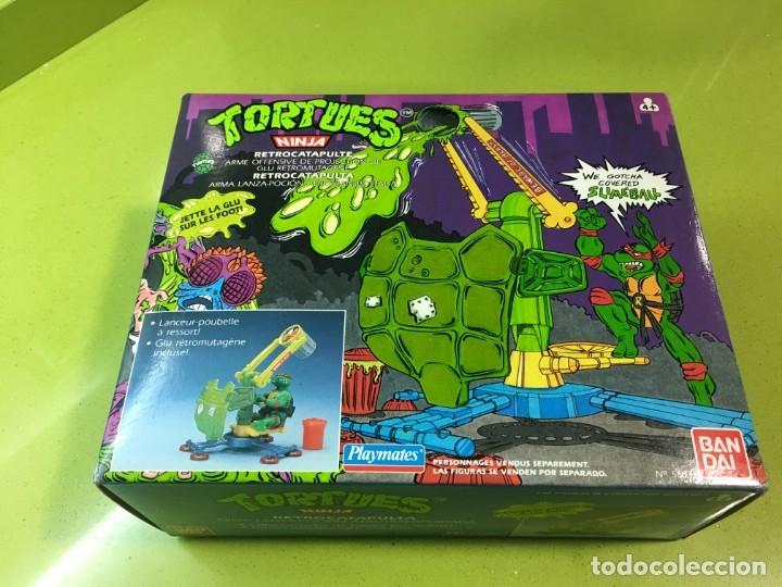 RETROCATAPULTA LANZA BASURA TORTUGAS NINJA, BANDAI 1989, REF 5663,TORTUES, TURTLES, (Juguetes - Figuras de Acción - Tortugas Ninja)