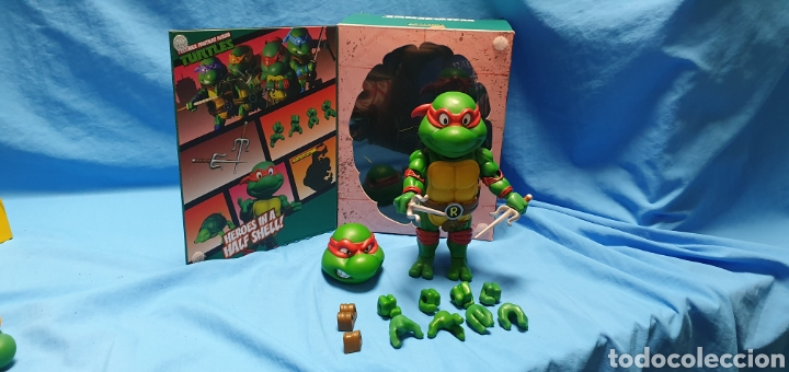 Figuras y Muñecos Tortugas Ninja: Figura raphael turtles hybrid metal tortugas ninja viacom 2016 + regalo . Ver - Foto 6 - 177425317
