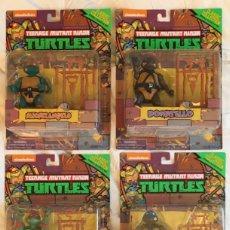 Figuras y Muñecos Tortugas Ninja: LOTE 4 FIGURAS TORTUGAS NINJA EN BLISTER. Lote 181352673