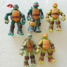 Figuras y Muñecos Tortugas Ninja: LOTE 5 FIGURAS TORTUGAS NINJA TMNT - MUÑECOS. Lote 181803628