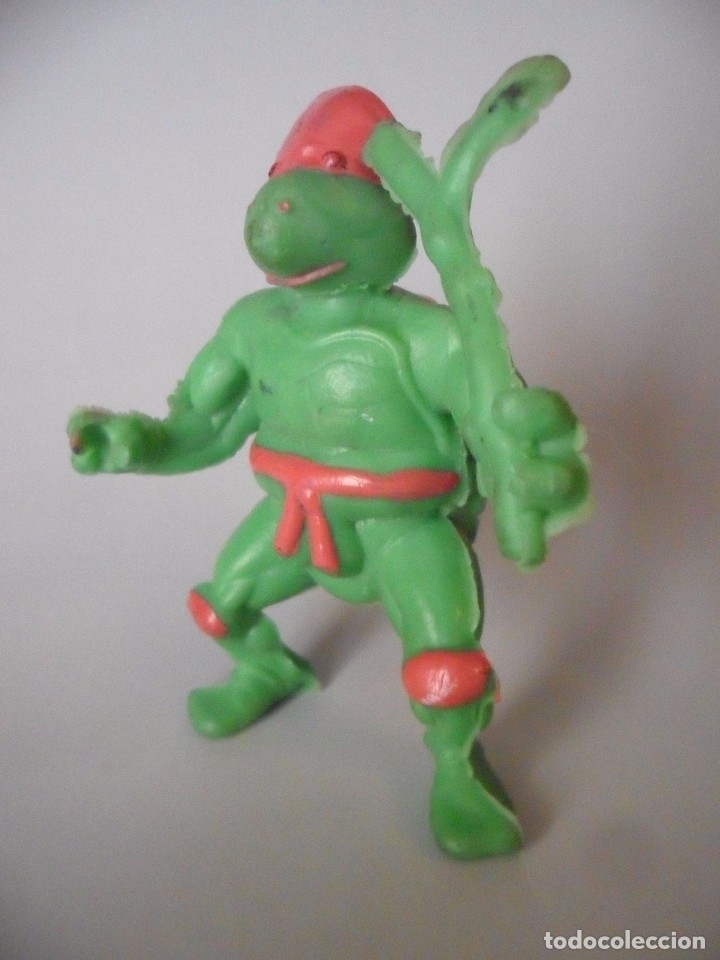 Figuras y Muñecos Tortugas Ninja: RARA VINTAGE TMNT FIGURA TORTUGA NINJA BOOTLEG DE GOMA - Foto 2 - 182032925