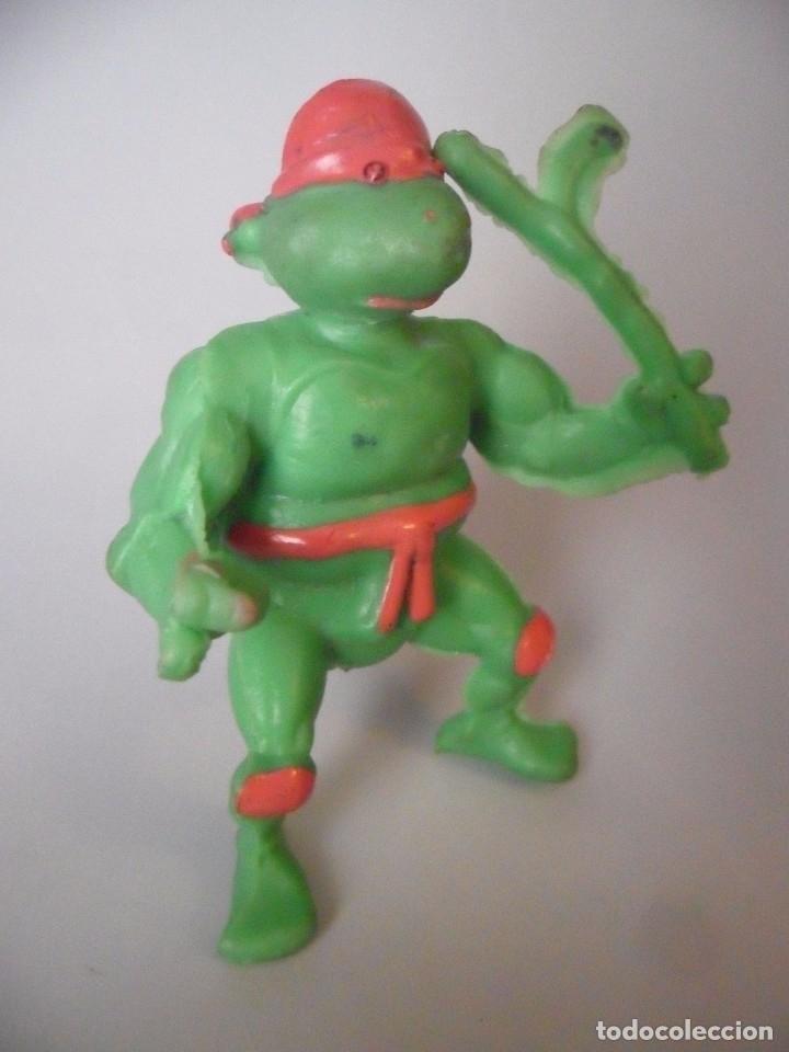 Figuras y Muñecos Tortugas Ninja: RARA VINTAGE TMNT FIGURA TORTUGA NINJA BOOTLEG DE GOMA - Foto 3 - 182032925