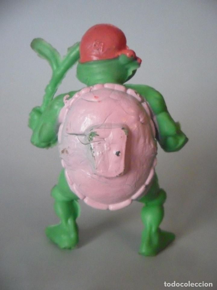 Figuras y Muñecos Tortugas Ninja: RARA VINTAGE TMNT FIGURA TORTUGA NINJA BOOTLEG DE GOMA - Foto 4 - 182032925