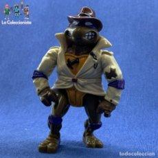 Figuras y Muñecos Tortugas Ninja: TORTUGAS NINJAS - LEONARDO - PLAYMATES 2005 - MIRAGE STUDIOS - 12 CM - GABÁN Y SOMBRERO. Lote 183297223