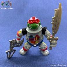 Figuras y Muñecos Tortugas Ninja: TORTUGAS NINJAS - RAPHAEL - RAFAEL - RAPH THE SPACE CADET - AÑO 1990 - PLAYMATES + ARMAS. Lote 183932821
