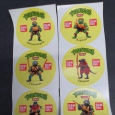 Figuras y Muñecos Tortugas Ninja: COLECCION COMPLETA PEGATINA TORTUGA NINJA BANDAY. Lote 184145173