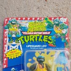 Figuras y Muñecos Tortugas Ninja: TORTUGA NINJA BANDAI EN BLISTER LIFEGUARD LEO. Lote 184640178