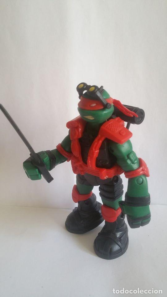 Figuras y Muñecos Tortugas Ninja: FIGURA TORTUGA NINJA / VIACOM - 2013 / MIDE 11 CMS / MUY NUEVA - Foto 3 - 184835067