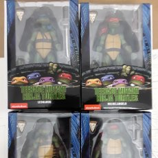 Figuras y Muñecos Tortugas Ninja: TORTUGAS NINJA TMNT PELÍCULA 1990 NECA SET COMPLETO. MICHELANGELO, RAPHAEL, LEONARDO Y DONATELLO. Lote 187325460