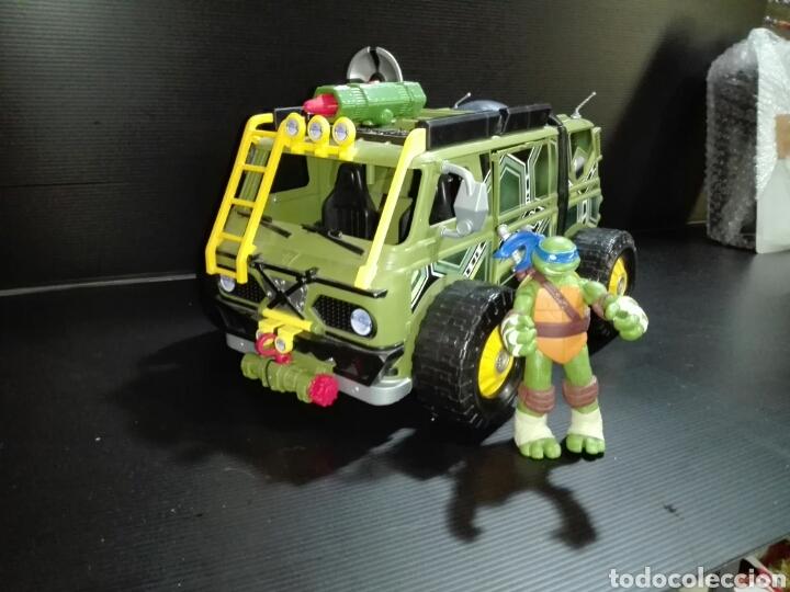 -TURTLE ASSAULT VAN - CON VEHICULO AUXILIAR (Juguetes - Figuras de Acción - Tortugas Ninja)
