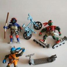 Figuras y Muñecos Tortugas Ninja: LOTE DE 3 MUÑECOS TORTUGAS NINJA PLAYMATES TOYS 2003 MIRAGE ESTUDIOS, INC.. Lote 193998306