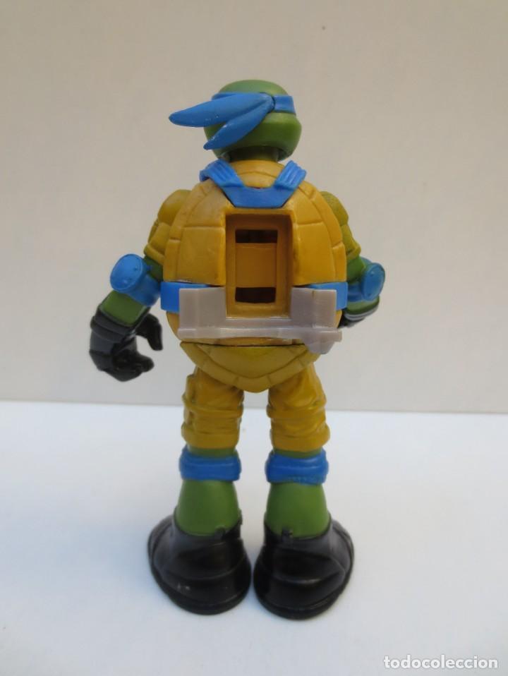 Figuras y Muñecos Tortugas Ninja: TORTUGA NINJA - LEONARDO DE 12 cm DE ALTO .- VIACOM 2012 - - Foto 2 - 194314978