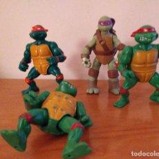 Figuras y Muñecos Tortugas Ninja: LOTE TORTUGAS NINJA TMNT RAPHAEL MICHELANGELO 1988 DONATELLO 2012. Lote 194513168