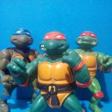 Figuras y Muñecos Tortugas Ninja: LOTE 3 TORTUGAS NINJA MICHELANGELO, LEONARDO Y RAFAEL , (PRIMERA GENERACIÓN 1988). Lote 194542093