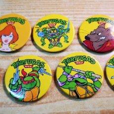 Figuras y Muñecos Tortugas Ninja: TORTUGAS NINJA 7 CHAPAS A ESTRENAR. Lote 194628116