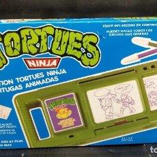 Figuras y Muñecos Tortugas Ninja: TORTUGAS ANIMADAS PARA DIBUJAR BANDAI 1988. Lote 194891687
