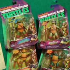 Figuras y Muñecos Tortugas Ninja: LOTE 4 TORTUGAS LEONARDO DONATELO MIQUELANGELO RAFAEL PLAYMATES NICKELODEON 2012 EN BLISTER. Lote 194978540