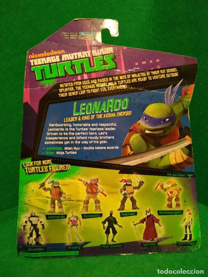 Figuras y Muñecos Tortugas Ninja: Lote 4 tortugas Leonardo Donatelo Miquelangelo Rafael Playmates Nickelodeon 2012 en Blister - Foto 3 - 194978540