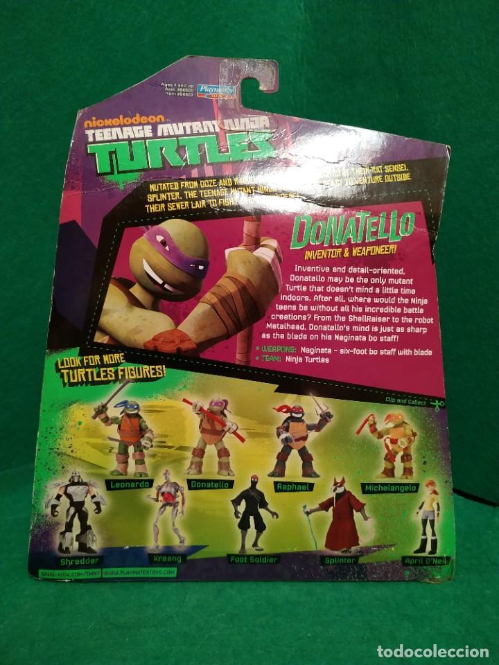 Figuras y Muñecos Tortugas Ninja: Lote 4 tortugas Leonardo Donatelo Miquelangelo Rafael Playmates Nickelodeon 2012 en Blister - Foto 5 - 194978540