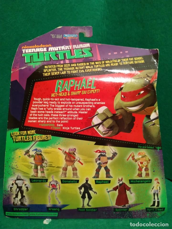Figuras y Muñecos Tortugas Ninja: Lote 4 tortugas Leonardo Donatelo Miquelangelo Rafael Playmates Nickelodeon 2012 en Blister - Foto 9 - 194978540