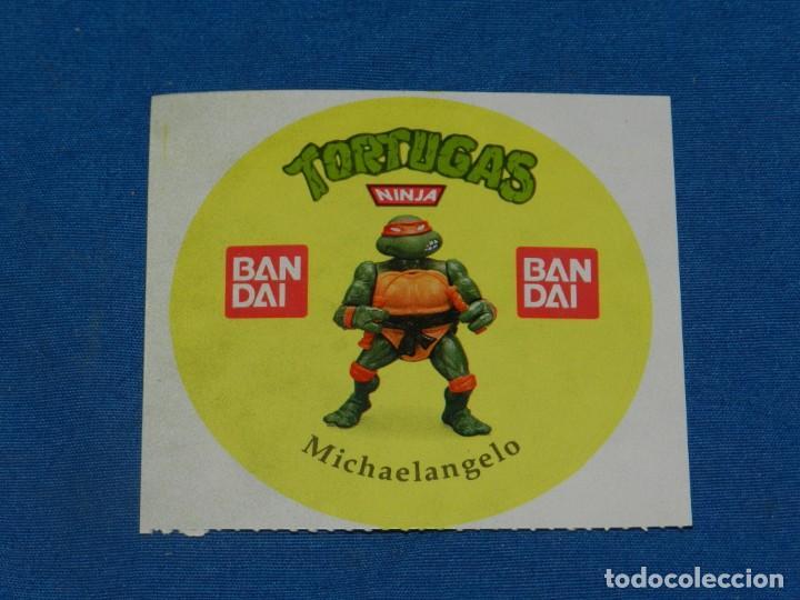 (MALB2) PEGATINA ORIGINAL TORTUGAS NINJA MICHAELANGELO BANDAI, NUNCA PEGADO, 9X8,5CM (Juguetes - Figuras de Acción - Tortugas Ninja)