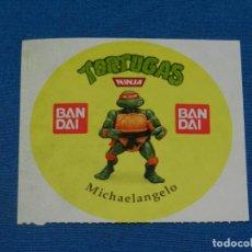 Figuras y Muñecos Tortugas Ninja: (MALB2) PEGATINA ORIGINAL TORTUGAS NINJA MICHAELANGELO BANDAI, NUNCA PEGADO, 9X8,5CM. Lote 195300512