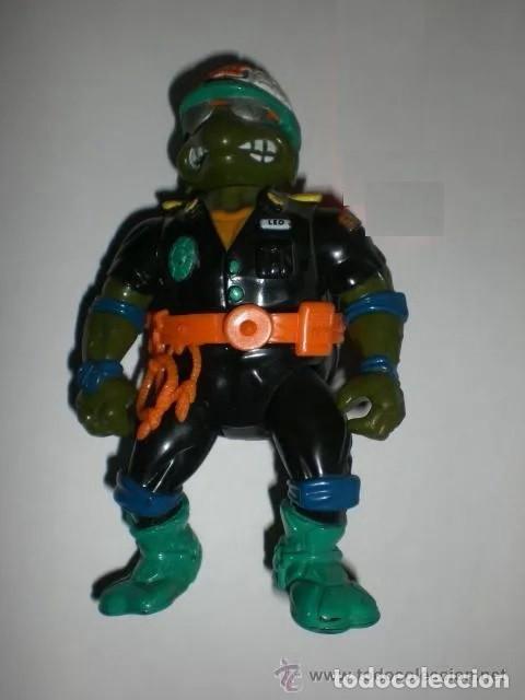 FIGURA VINTAGE TORTUGAS NINJA - LEONARDO POLICIA- (Juguetes - Figuras de Acción - Tortugas Ninja)