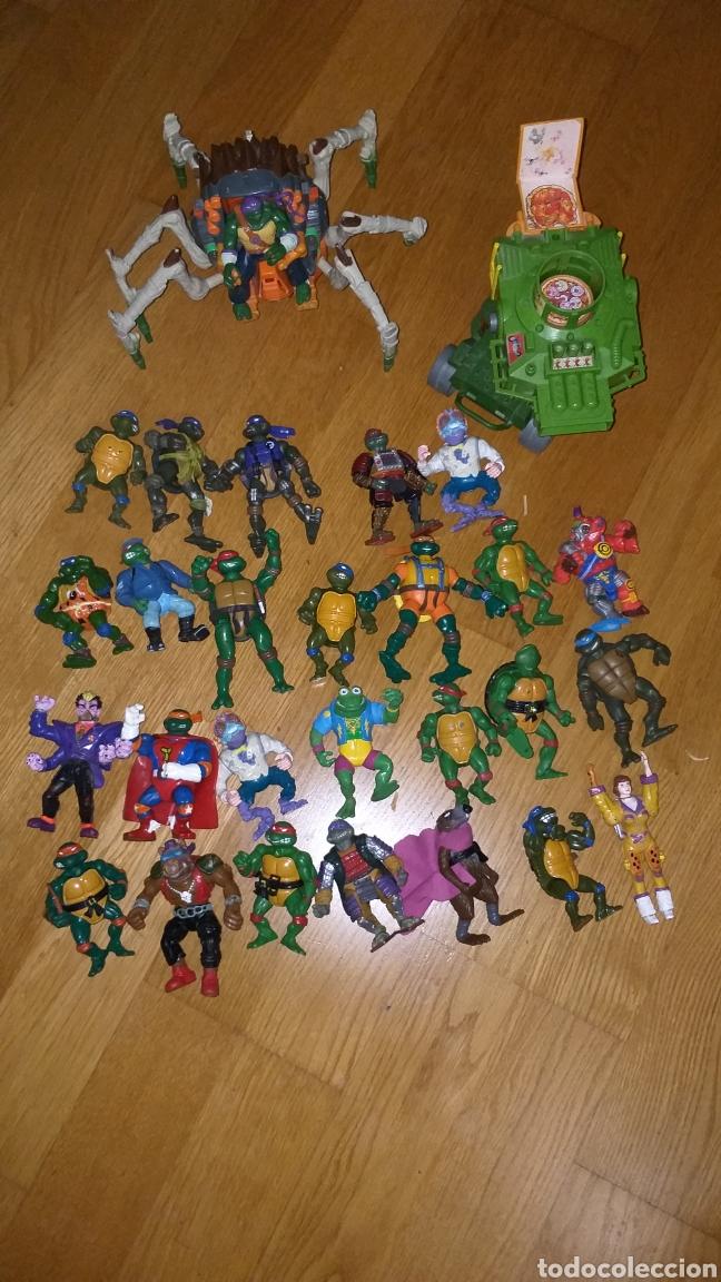 LOTE TORTUGAS NINJA MÁS VEHICULOS AÑOS 80 (Juguetes - Figuras de Acción - Tortugas Ninja)
