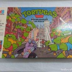Figuras e Bonecos Tartarugas Ninja: JUEGO DE MESA TORTUGAS NINJA/DEVORADORAS DE PIZZA/MB JUEGOS.. Lote 196031686