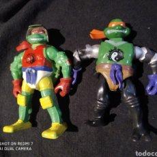 Figuras y Muñecos Tortugas Ninja: LOTE DE 2 TORTUGA NINJA BOOTLEG. Lote 196813255