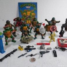 Figurines et Jouets Tortues Ninja: TORTUGAS NINJA,FIGURAS Y COMPLEMENTOS Y OTRAS PIEZAS ,ALBUM ,PUZZLE TORTUGAS NINJAS. Lote 199529633