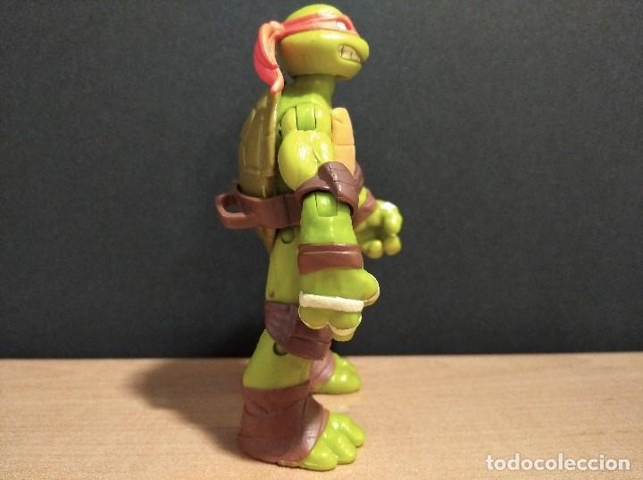 Figuras y Muñecos Tortugas Ninja: FIGURA TORTUGAS NINJAS MICHELANGELO-12cm aprox.-VIACOM PLAYMATES-2012-VER FOTOS-V1 - Foto 3 - 200029122