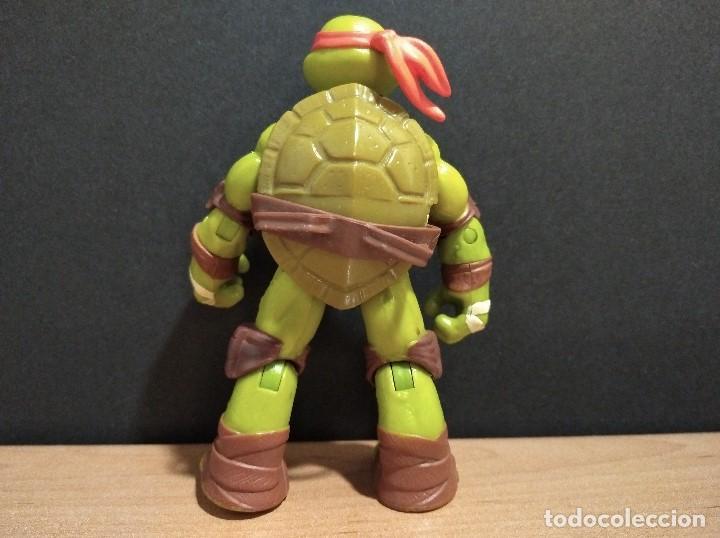 Figuras y Muñecos Tortugas Ninja: FIGURA TORTUGAS NINJAS MICHELANGELO-12cm aprox.-VIACOM PLAYMATES-2012-VER FOTOS-V1 - Foto 4 - 200029122
