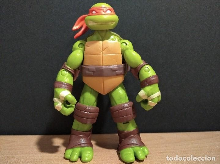 FIGURA TORTUGAS NINJAS MICHELANGELO-12CM APROX.-VIACOM PLAYMATES-2012-VER FOTOS-V2 (Juguetes - Figuras de Acción - Tortugas Ninja)