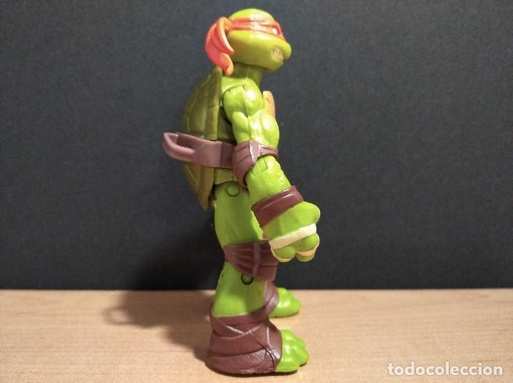Figuras y Muñecos Tortugas Ninja: FIGURA TORTUGAS NINJAS MICHELANGELO-12cm aprox.-VIACOM PLAYMATES-2012-VER FOTOS-V2 - Foto 3 - 200029271